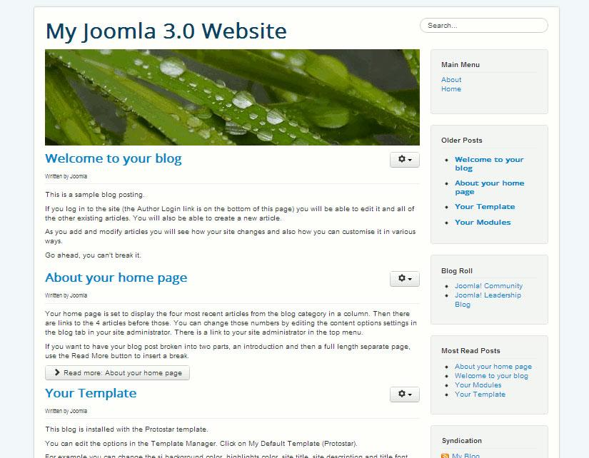 Joomla – Standard Sample Data Sets - Yuryi Kliashtorny
