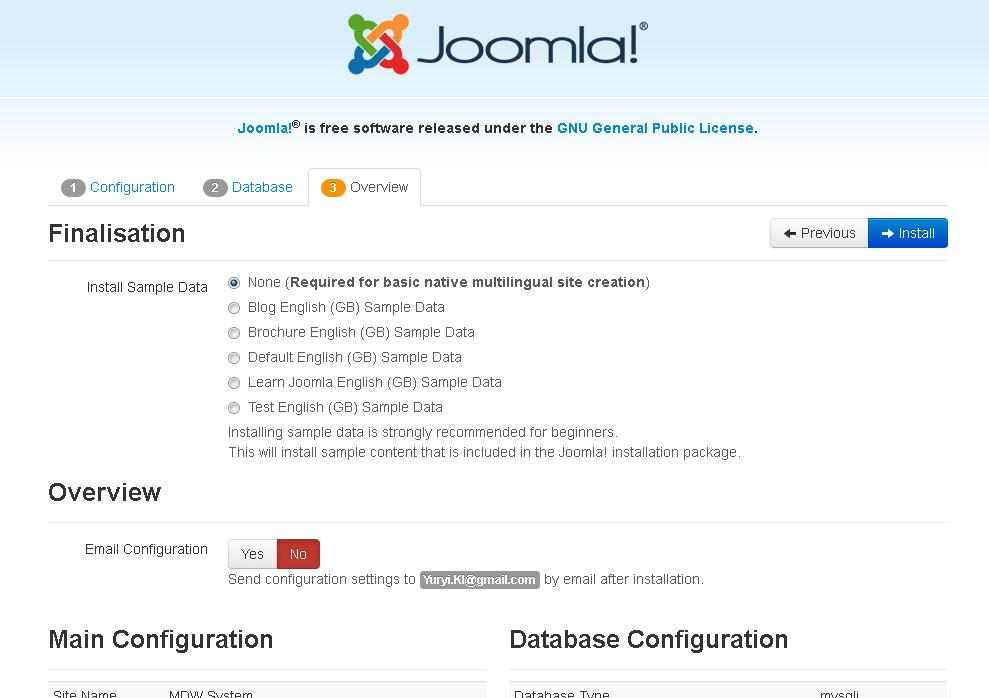 Joomla standard sample data sets yuryi kliashtorny for Joomla templates with sample data